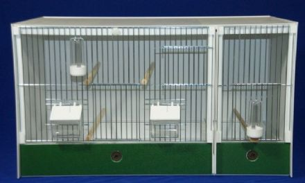 JH DOUBLE BREEDING CAGE + BABY CAGE -  FINCH / CANARY ~ 70X40X40 (1)